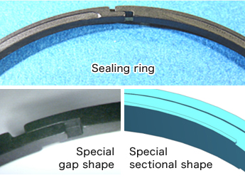 Sealing ring with low friction and low leakage technology
