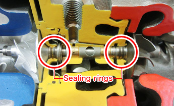 Turbo sealing ring with heat resistance technology