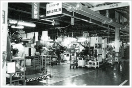 The production line of steel piston ring in the Tsurugi plant
